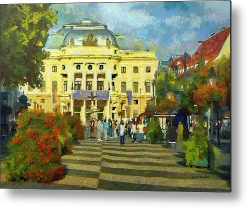 Europe Metal Print featuring the painting Old Town Square by Jeffrey Kolker