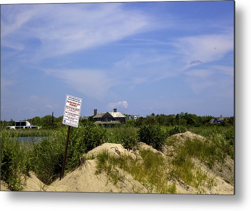 Beach Metal Print featuring the photograph Parking By Permit - Town Of Southhampton by Madeline Ellis