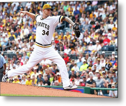 People Metal Print featuring the photograph Philadelphia Phillies V Pittsburgh by Jared Wickerham