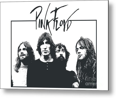 Pink Floyd Metal Print featuring the digital art Pink Floyd No.05 by Caio Caldas