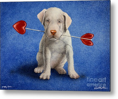 Will Bullas Metal Print featuring the painting Puppy Lover... by Will Bullas
