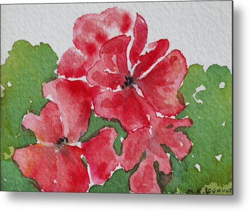 Floral Metal Print featuring the painting Pzzzazz by Mary Ellen Mueller Legault