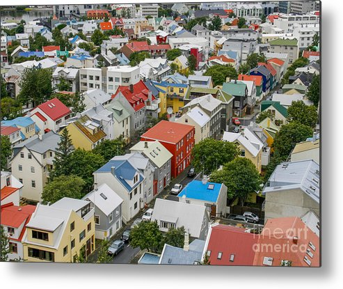 Bay Metal Print featuring the photograph Reykjavik by Patricia Hofmeester