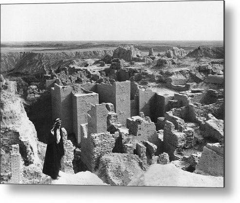 1932 Metal Print featuring the photograph Ruins Of Babylon by Underwood Archives