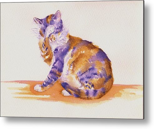 Cats Metal Print featuring the painting Seven Plus Four Is...? by Debra Hall