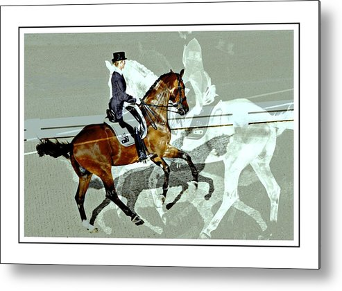 Horse Show View Metal Print featuring the photograph Shadows Of Shadows by Alice Gipson