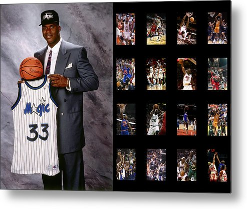 Shaquille O'neal Metal Print featuring the photograph Shaquille O'neal by Joe Hamilton