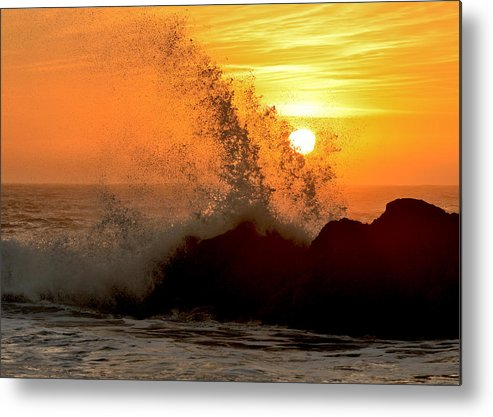 Sunset Metal Print featuring the photograph Shell Beach Sunset #1 by Daniel Lee Brown