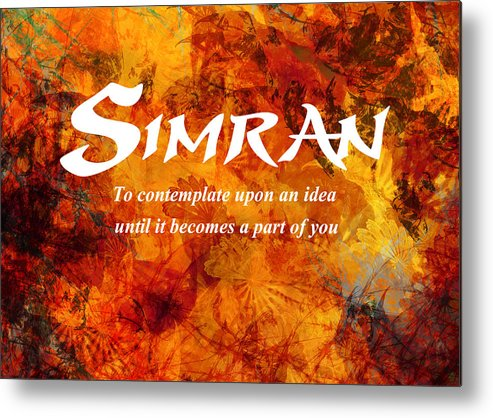 Modern Metal Print featuring the painting Simran by Christopher Gaston
