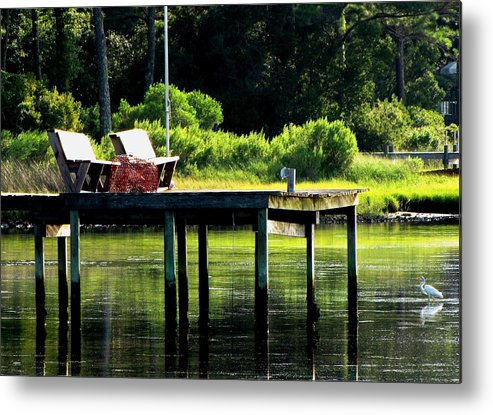 Landscape Metal Print featuring the photograph Sound Dock by Nick Sikorski