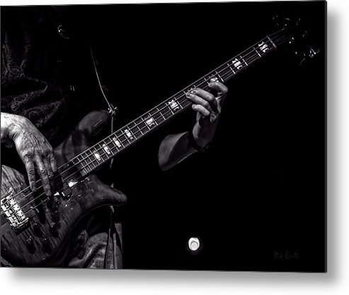 Bass Metal Print featuring the photograph Sounds In The Night Bass Man by Bob Orsillo