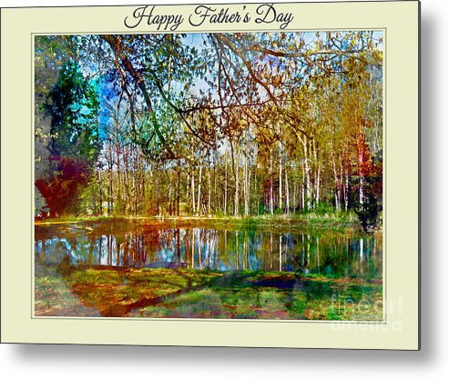 Nature Metal Print featuring the photograph Spring Pond Photoart Father's Day by Debbie Portwood