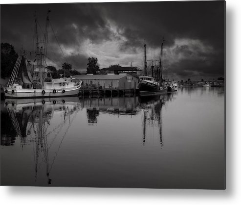 B&w Metal Print featuring the photograph Storm Is Coming by Mario Celzner