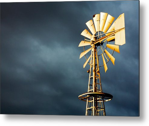 Stormy Metal Print featuring the photograph Stormy Skies by Todd Klassy