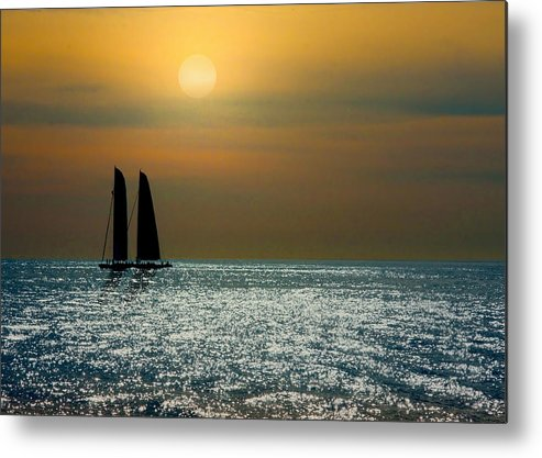 Sunset Metal Print featuring the photograph Sunset Sailing by Doug Oriard