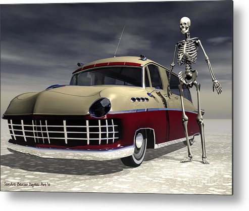 Bryce Metal Print featuring the digital art Sweet Ride by Sandra Bauser Digital Art