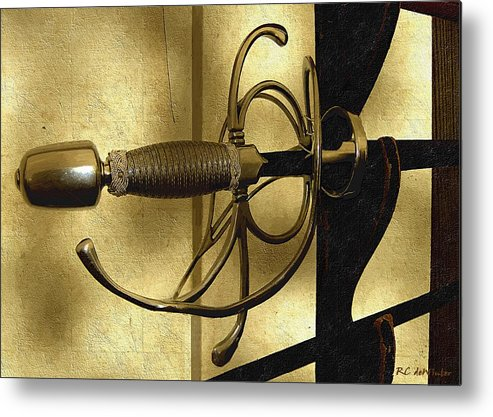 Sword Metal Print featuring the painting The Art Of The Sword by RC DeWinter