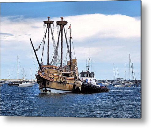 Mayflower Ii Metal Print featuring the photograph The Return Of Mayflower II by Janice Drew