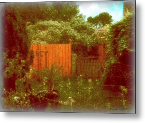 Homescape Metal Print featuring the mixed media The Side Yard by YoMamaBird Rhonda
