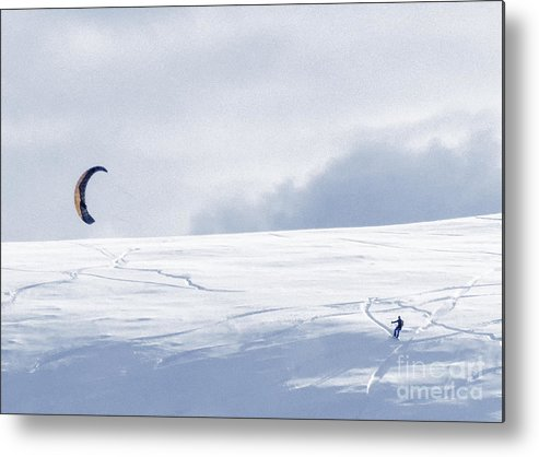 Skiing Metal Print featuring the photograph The Skier by Carolyn Fox