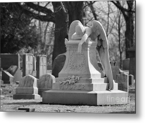 Cemetery Metal Print featuring the photograph the Weeping Angel by Rob Ruscansky