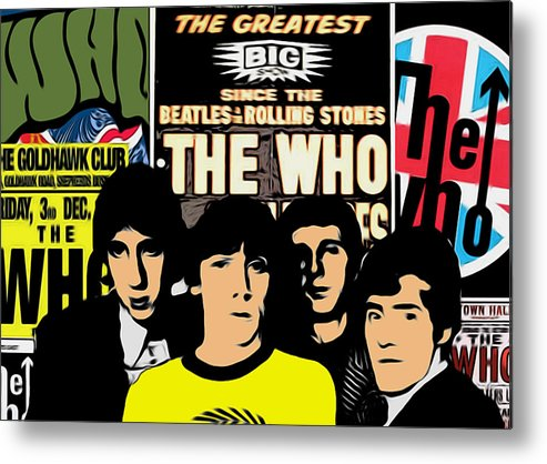 The Who Metal Print featuring the digital art The Who by GR Cotler