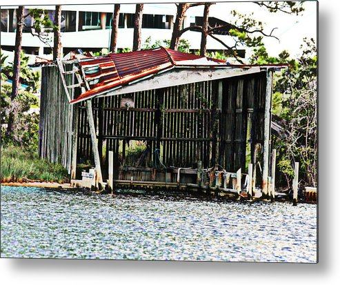 Rust Metal Print featuring the photograph Tin Roof Rusted by Tina Sessions