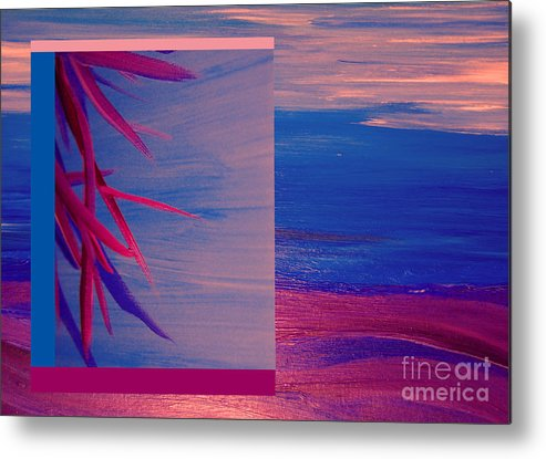 First Star Art Metal Print featuring the painting Tropical Sunrise By Jrr by First Star Art