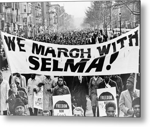 Civil Rights Metal Print featuring the photograph United For Justice by Benjamin Yeager