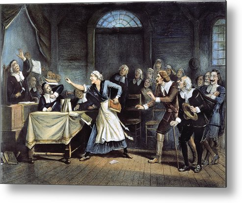 1692 Metal Print featuring the painting Witch Trial by Granger