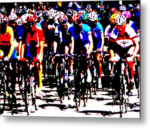 Peloton Metal Print featuring the photograph Working Together To Catch The Leader by David Bearden