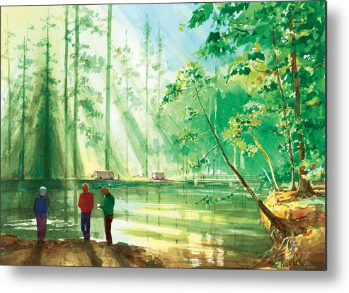 Yosemite Metal Print featuring the painting Yosemite Morning by Ray Cole