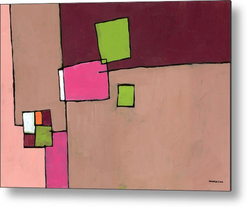 Abstract Metal Print featuring the painting Zipless by Douglas Simonson