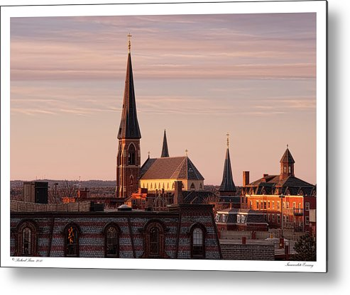 Architecture Metal Print featuring the photograph Immaculate Evening by Richard Bean