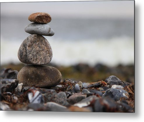 Steine Metal Print featuring the photograph Stones At The Sea by Falko Follert