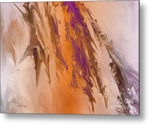 Abstract Metal Print featuring the digital art Abstract In July by Deborah Benoit