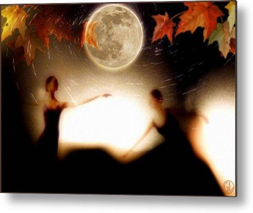 Landscape Metal Print featuring the digital art Autumn Moon Dance by Gun Legler