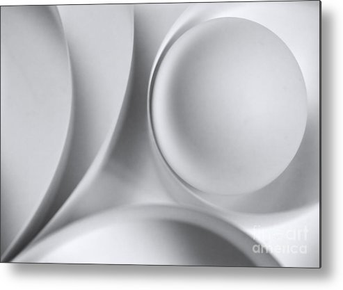 Ball Metal Print featuring the photograph Ball And Curves 04 by Nailia Schwarz