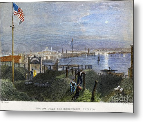 1838 Metal Print featuring the photograph Boston, Mass., 1838 by Granger