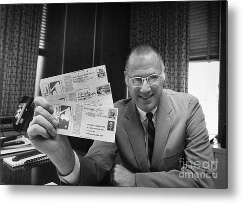 1970 Metal Print featuring the photograph Bowie Kuhn (1926-2007) by Granger