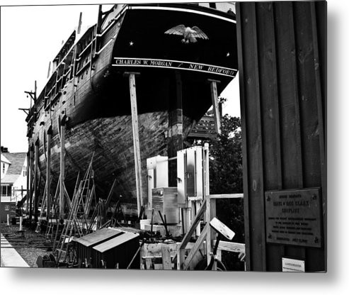 Ship Whaler Metal Print featuring the photograph Charles W Morgan Hays And Ros Clark Ship-lift by Michael Ray