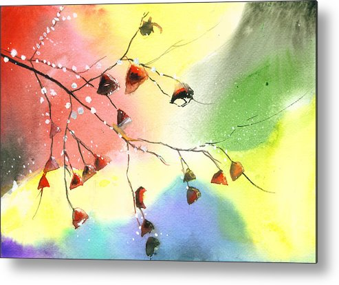 Nature Metal Print featuring the painting Christmas 1 by Anil Nene