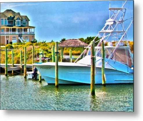 Dreamboat Metal Print featuring the painting Dream Boat 2 by Anne Kitzman