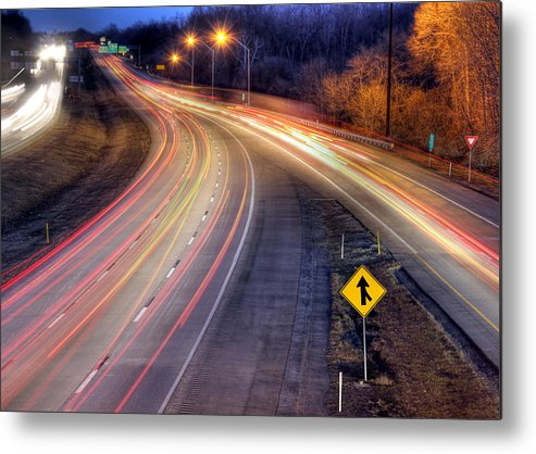 Night Metal Print featuring the photograph Drive by Lori Deiter
