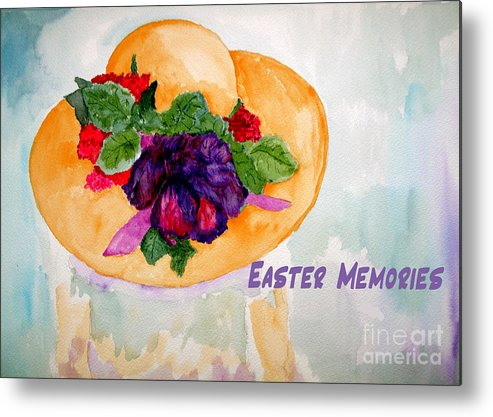 Easter Metal Print featuring the painting Easter Memories by Sandy McIntire