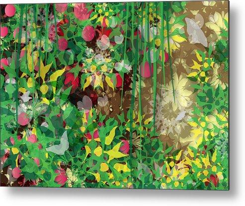 Garden Metal Print featuring the digital art Garden by Fruhling