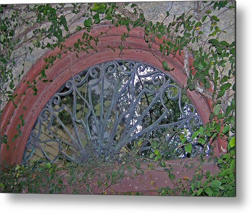 Iron Work Metal Print featuring the photograph Gate To The Courtyard by Patricia Taylor