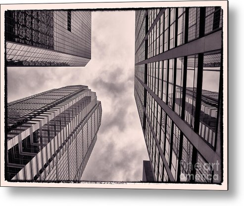 Philadelphia Metal Print featuring the photograph Looking Up In Philadelphia 3 by Jack Paolini