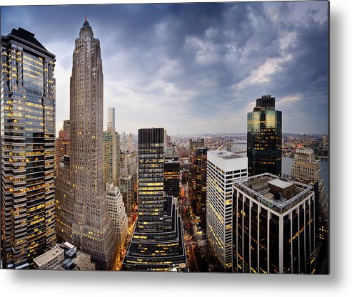 Horizontal Metal Print featuring the photograph Lower Manhattan by Tony Shi Photography