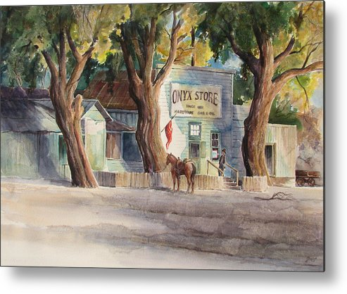 Old Metal Print featuring the painting Onyx Store by Don Trout